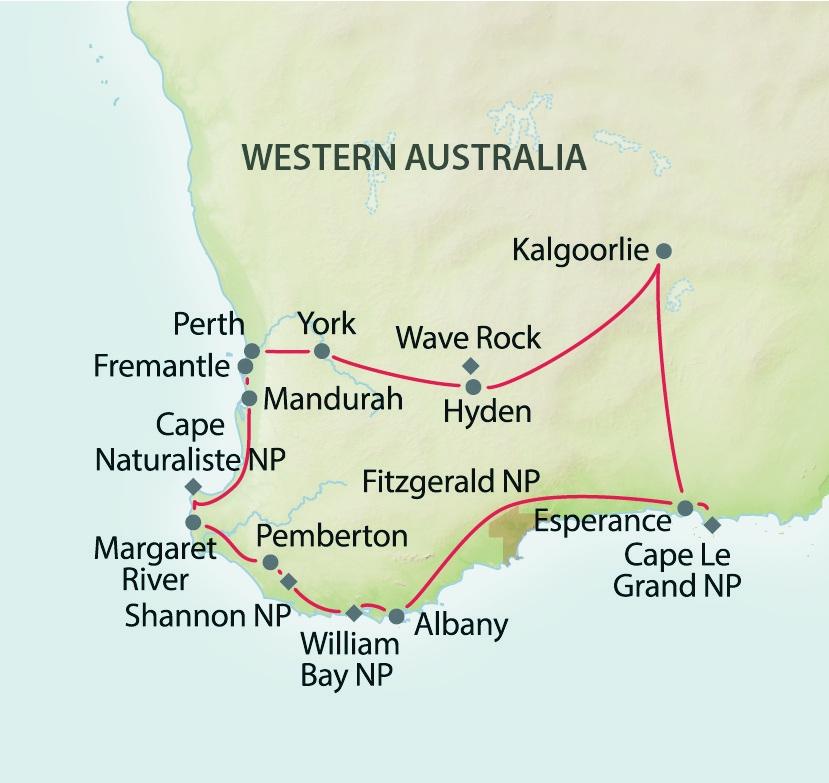 South West Edge - Mietwagenreise durch Westaustralien ...