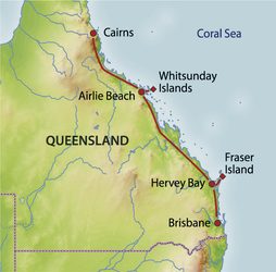 Reiseverlauf Queensland Explorer