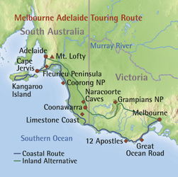 Melbourne Adelaide Touring Route