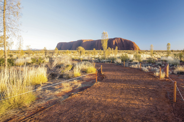 Wanderweg am Uluru (Ayers Rock)