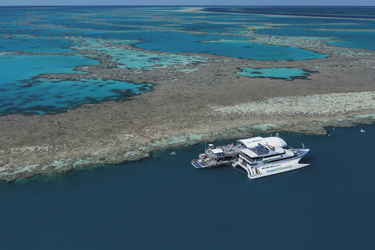Riffplattform am Great Barrier Reef