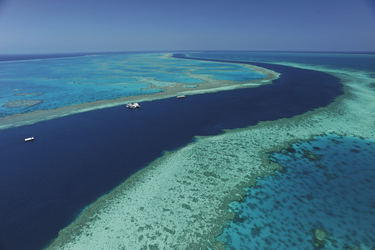Pontoon im Great Barrier Reef
