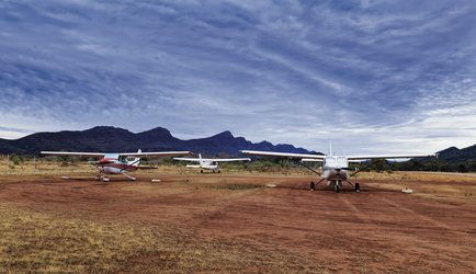 Am Airstrip am Wilpena Pound