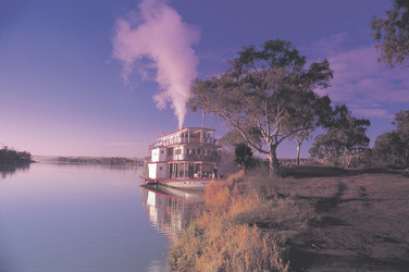 Paddle Steamer auf dem Murray River