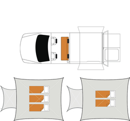 Britz 4WD Outback: Nacht-Layout