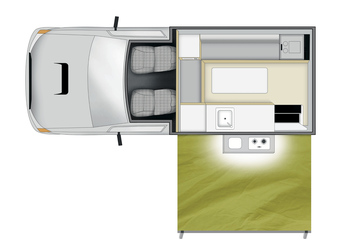 Apollo 4WD Adventure Camper: Tag-Layout