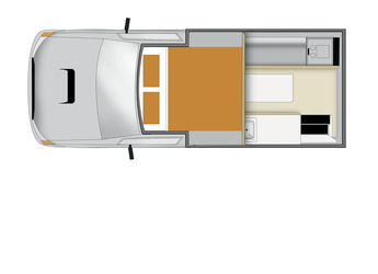 Apollo 4WD Adventure Camper: Nacht-Layout