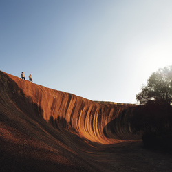 Felsformation Wave Rock