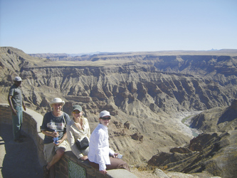 Blick in den Fish River Canyon