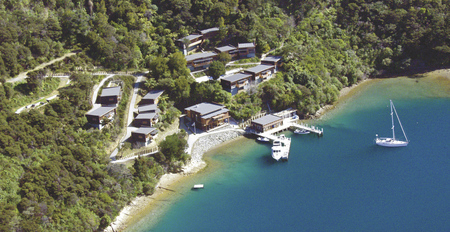 Bay of Many Coves Resort aus der Luft