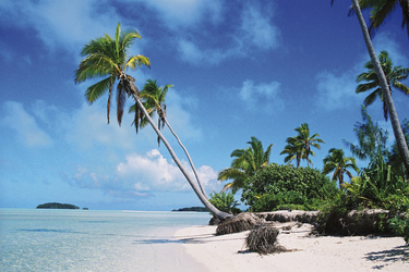 Traumstrand auf One-Foot-Island, Aitutaki