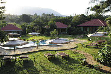Gartenanlage der African View Lodge