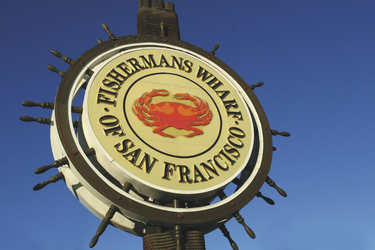 Fisherman´s Wharf Schild, San Francisco, Kalifornien, USA