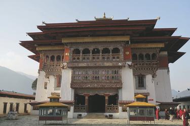Klostereingang zum Gangtey Kloster