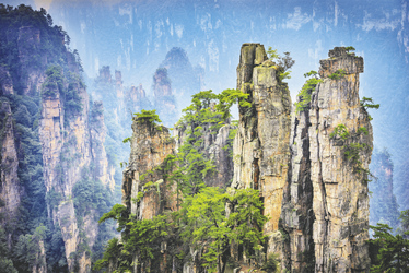 Landschaft von Zhangjiajie