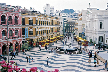 Senado Square in Macaus Altstadt