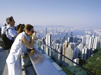 Aussicht vom Victoria Peak, Hongkong
