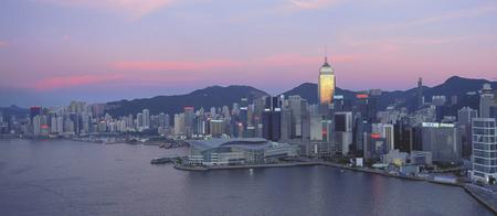 Blick auf den Hafen von Hong Kong