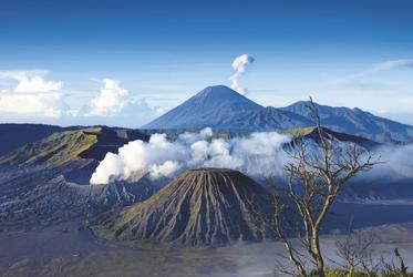 Blick auf den Mount Bromo in Java
