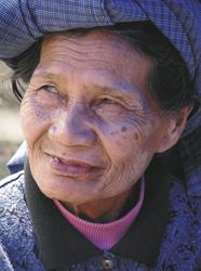 Frau in Sulawesi
