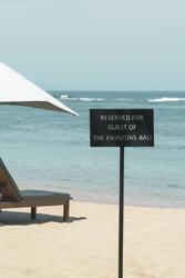 Strandbereich für Hotelgäste