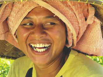 Einheimische Frau aus Lombok