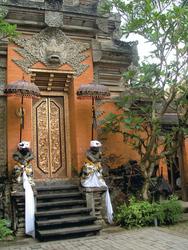 in der Künstlerstadt Ubud