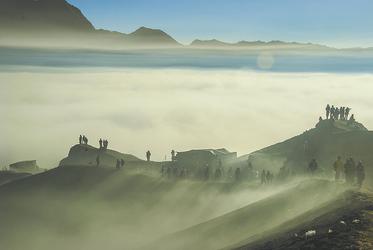 Wanderung zum Sonnenaufgang am Mt. Bromo
