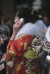 Japanische Geisha im Alltag