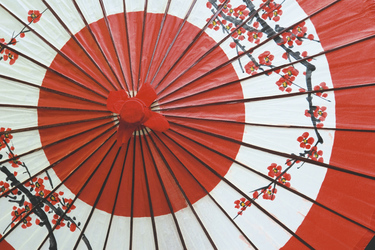 Traditioneller japanischer Schirm