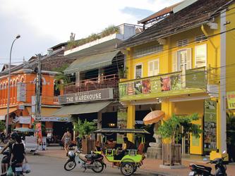 Kolonialhaeuser in Siem Reap