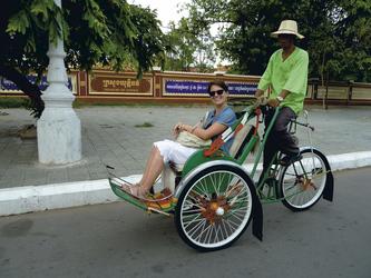 Rikschafahrt durch Phnom Penh