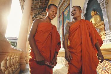 Mönche in Phnom Penh