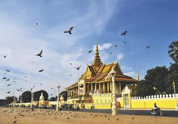 Chanchhaya-Pavillon auf dem Königspalast in Phnom Penh