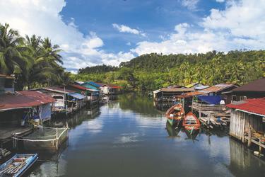 Schwimmendes Dorf auf dem Tonle Sap See