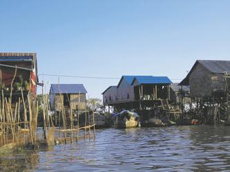 Schwimmende Dörfer Tonle Sap See, ©Ines Höflich