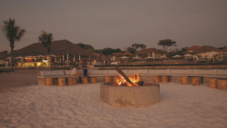 Feuerstelle am Strand