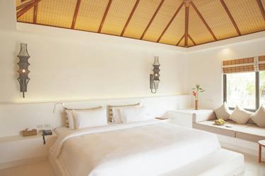 Schlafzimmer in der Oceanview Villa