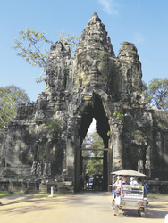 Stadttor von Angkor Thom, Siem Reap