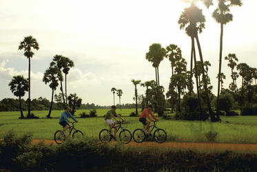 Mit dem Fahrrad durch Angkor