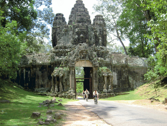 Mit dem Rad in Angkor