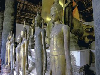 Buddhas im Wat Visounnarath, Luang Prabang