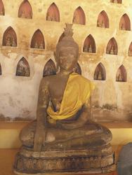Buddha im Wat Si Saket, Vientiane, ©Susanne Möhler