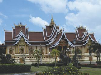Tempel beim Pha That Luang Komplex, Vientiane, ©Susanne Möhler
