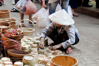 Körbe in Laos