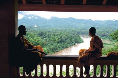Mönche am Mekong