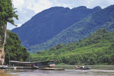 Blick auf den Mekong von der Kamu Lodge