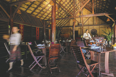 Restaurant der Luang Say Lodge
