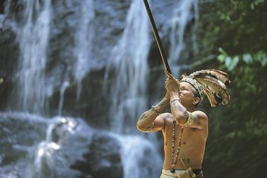 Naturvolk Iban aus Borneo