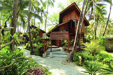 Cabana in der Gartenanlage